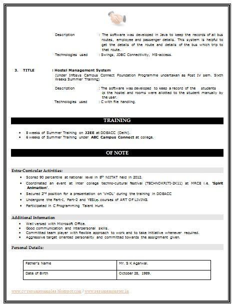 25+ parasta ideaa Pinterestissä Resume format for freshers - resume formats for freshers download