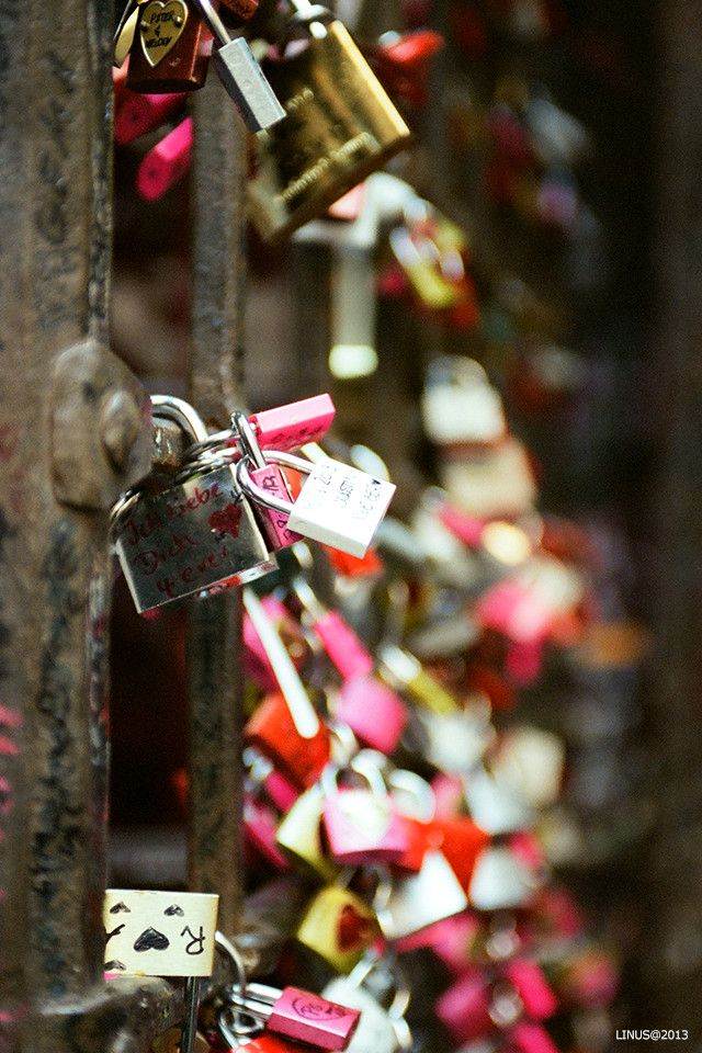 Love Locks in Verona, Italy. We will need to remember to bring a lock