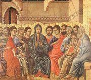 Pentecost 1308-11  by Duccio Di Buoninsegna