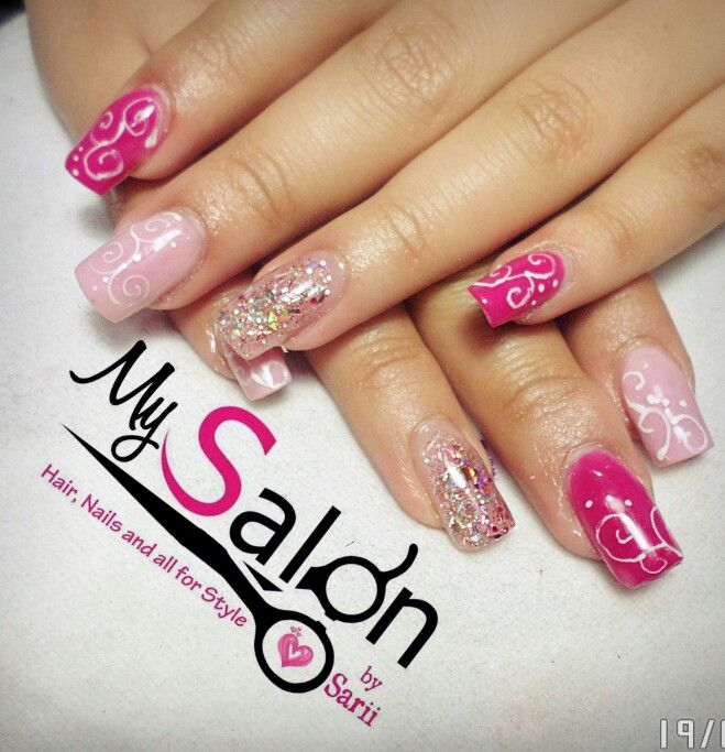 71 besten pink nails bilder auf pinterest pinke n gel stitching und swarovski. Black Bedroom Furniture Sets. Home Design Ideas