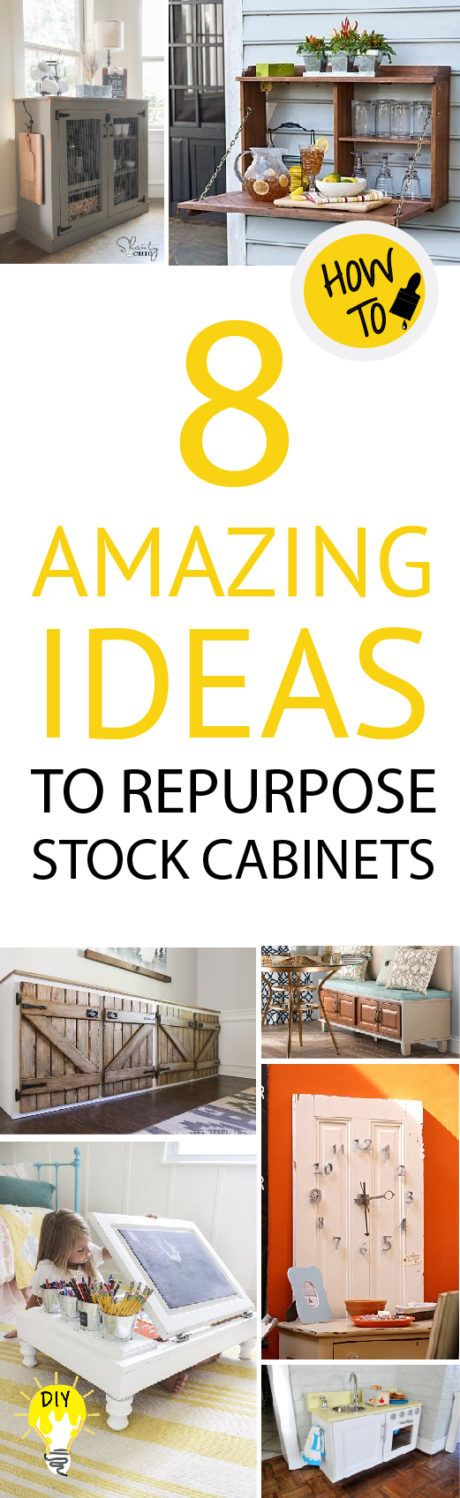 Don't ever get rid of old cabinets, check out these great DIY projects you can do with them!