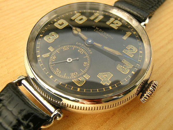 Vintage Longines Officer's Watch For Sale 1918 UK JW Benson | Vintage Watches