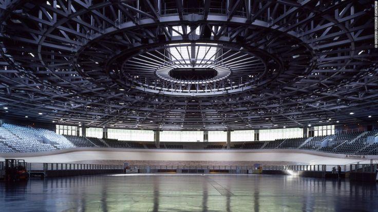 Velodrom, 1997, Prenzlauer Berg, Berlin / Dominique Perrault (an indoor track cycling arena)
