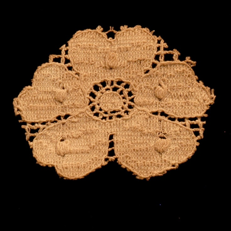 Vintage Lace Hand-dyed and Hand-cut Applique sku# L0504 - 6 Pieces for $3.00
