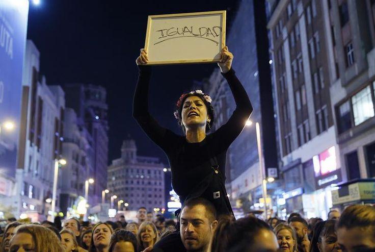 Imagen de la manifestación del 8M en Madrid.