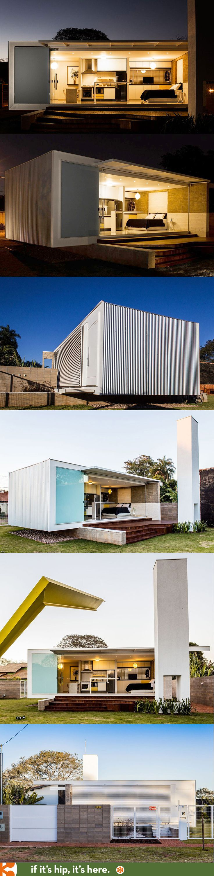 A Tiny But Terrific Modern Prefab in Brazil.