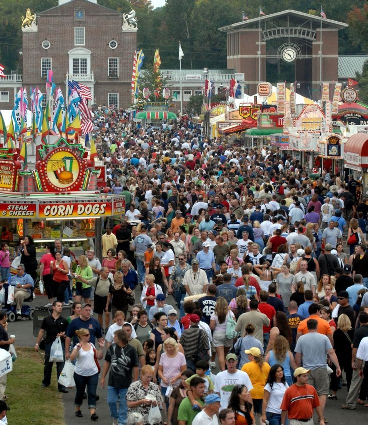The Big E is New England's largest fair that takes place every September at the Eastern States Exposition Grounds in West Springfield, Mass., (this year, 2012, Sept. 14-30): http://visitingnewengland.com/blog-cheap-travel/?p=2996