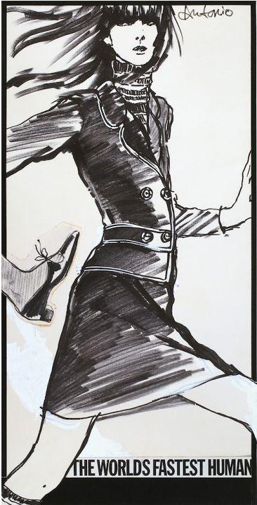 Illustration by Antonio Lopez, 1965, Mademoiselle.