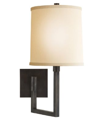 #Sconces in a bronze finish with an ivory linen shade. Supplied by Chown. #lighting #AmericanDreamSOD