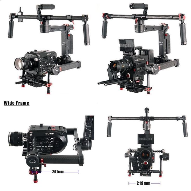 The new CameTV #Prodigy #Gimbal is spacious! (Yet lightweight). Can easily fit an #FS7 #RED or #UrsaMini and have room to spare. Not just front to back but room on the sides for your SDI cables etc. As an example the (full size) Ronin has about 140mm from center plate to back motor. The #Prodigy is at 201mm. The #Ronin side to side is 195mm and the #Prodigy is at 219mm. Even if you were to add extension arms to Ronin you can't gain width or height in the frame. Also priced less than fu...