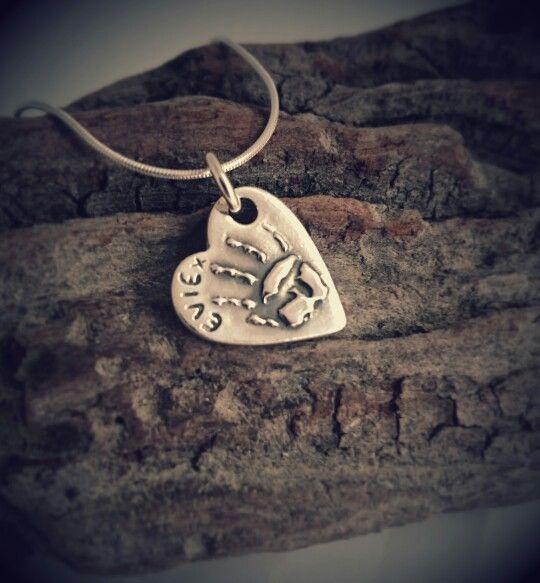 """""""Relief"""" Hand Print Jewellery Pendant"""