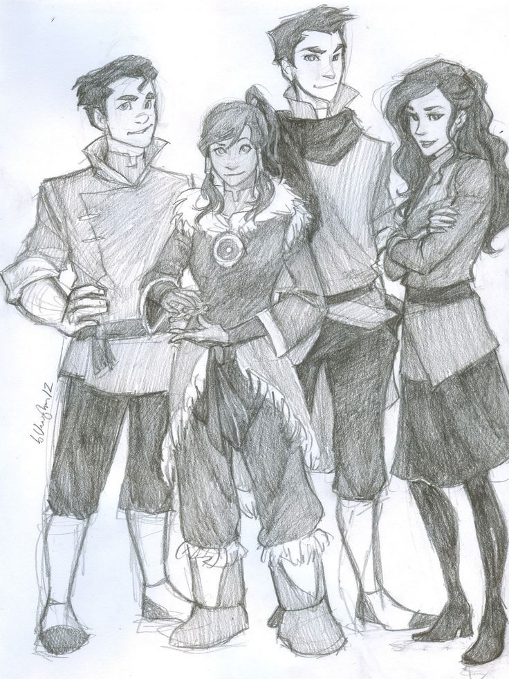 the new team avatar. :) even though i miss the old one...  hey look! korra's doing the marble thing aang did. lol.