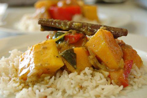 Fahéjas sütőtök-curry