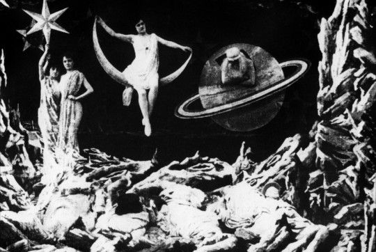 Le Voyage Dans la Lune (Trip to the Moon), perhaps Georges Méliès' most famous film, and the first science fiction film in cinematic history, 1902