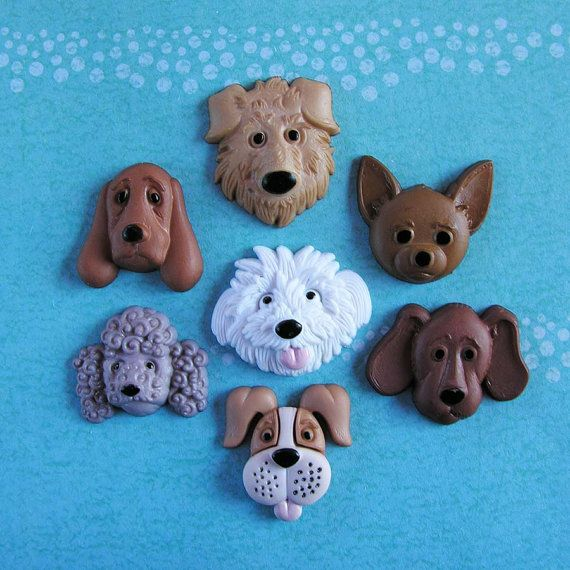 caritas de perritos cer mica fria pinterest