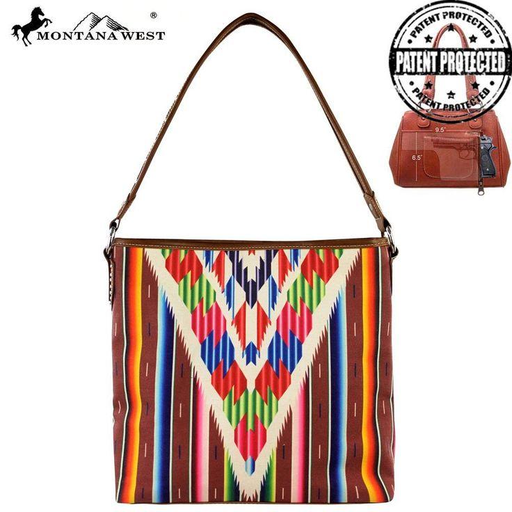 Montana West Serape Concealed Handgun Collection Handbag #aztechandbag #canvastote #springtote