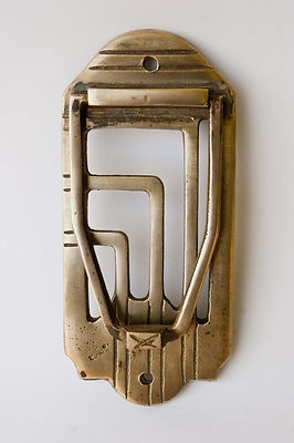 Wonderful ANTIQUE ART DECO SOLID BRASS DOOR KNOCKER | EBay