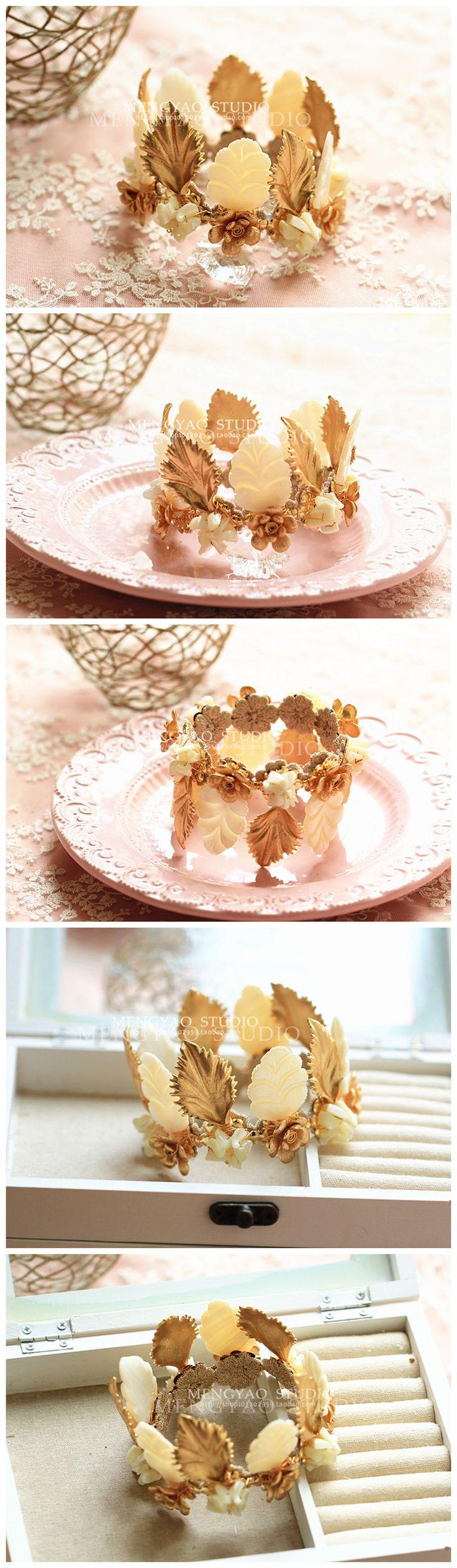 Ватикан Си Дия подлинной сусальное золото барокко небольшие повязки корона ручной работы украшения для волос свадебные украшения свадебный головной убор - Taobao