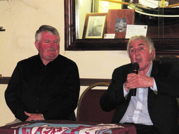 Tommy Lally and Paddy Mulligan at Galway Rovers Clubhouse 26th April 2013.  Play Galway Soccer Lotto online at; http://www.galwaysoccer.com/p/galway-soccer-lotto.html