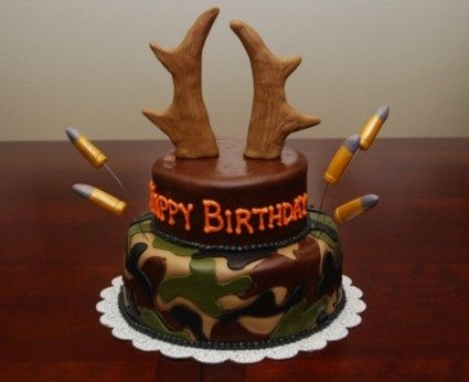 10 best Bday cake ideas images on Pinterest Birthdays Camo cakes