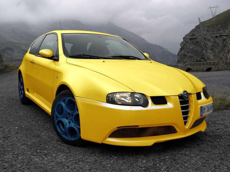 alfa 147 gta yellow