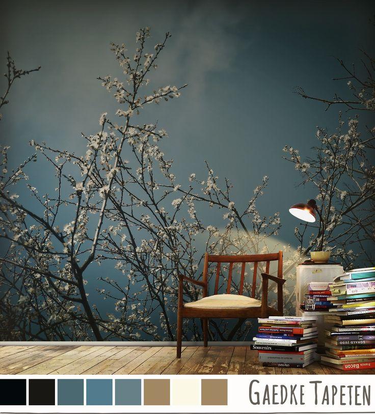 25 best fototapeten mit blumen bl ten images on. Black Bedroom Furniture Sets. Home Design Ideas