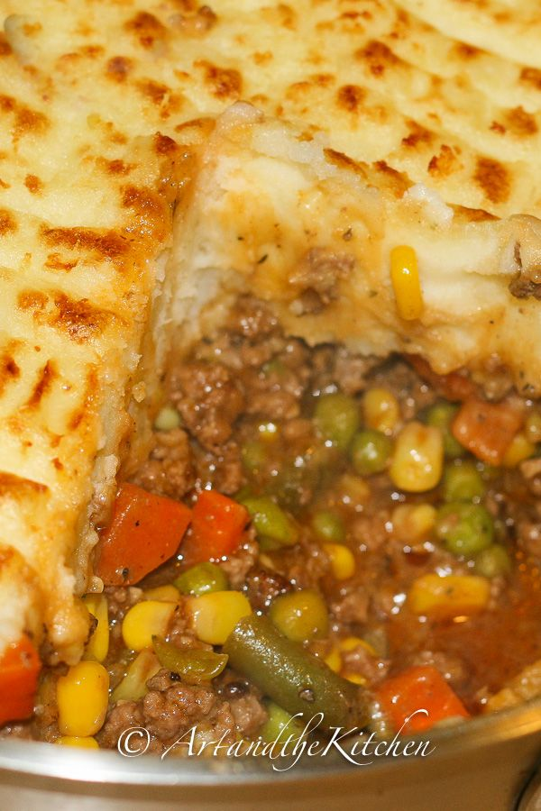 super shepherds pie I'm going to use a can of mixed veggies and instant potatoes.