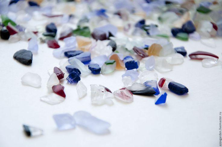 Купить Стеклянные камешки цветные для аквариума, декора, творчества…