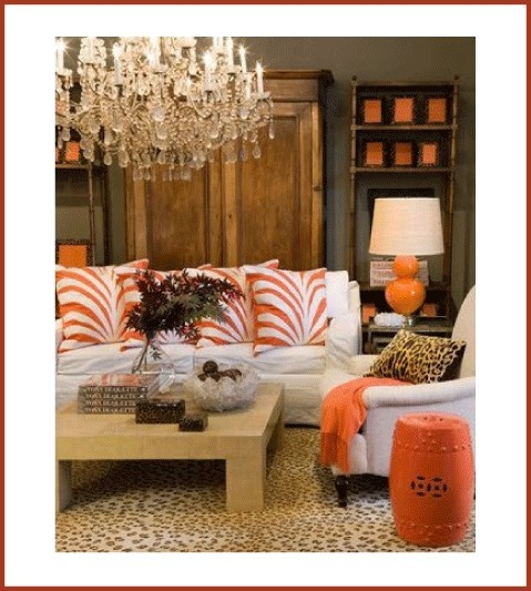 The living room pops of color with neutral foundations for Neutral decor with pops of color