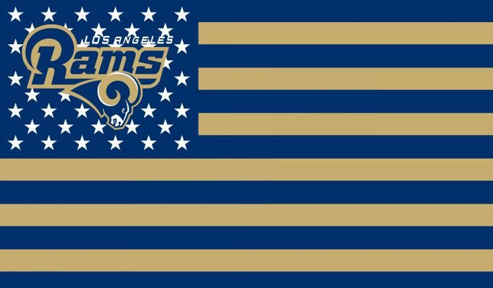 US  BANNER  USA  AMERICA  COUNTRY  LOS  ANGELES  RAMS  FLAG  CUSTOM  100D   POLYESTER  FLAG  3FT  X  5FT  BANNERS  533aa7c0a