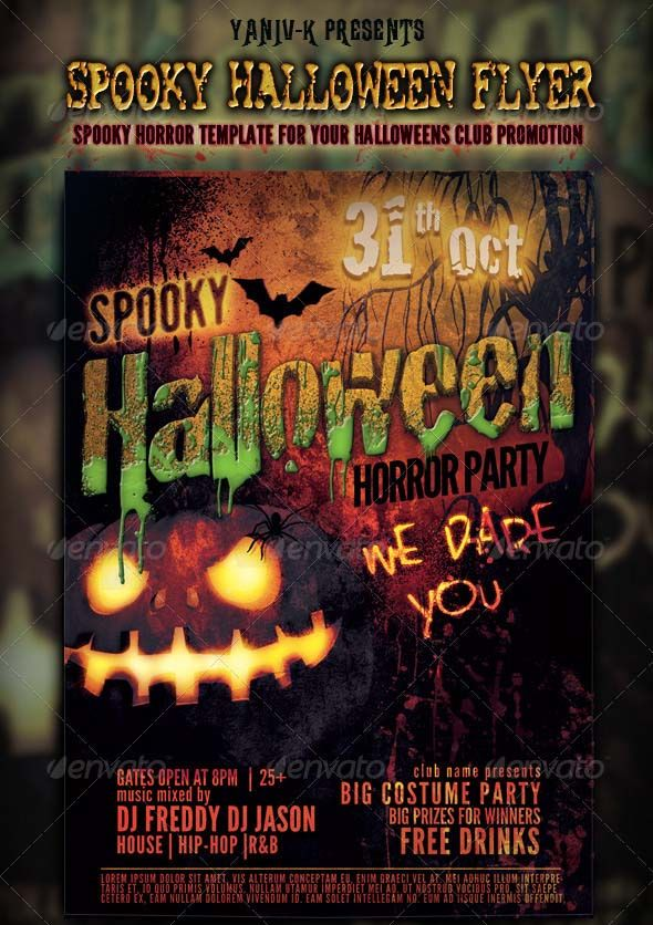 The 25 Best Beautiful Halloween Flyer Templates Images On Pinterest