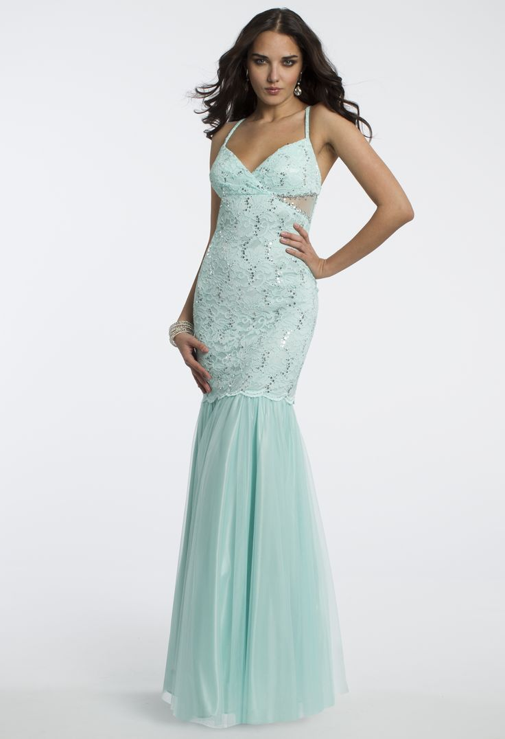 Camille La Vie Sequin Lace and Mesh Prom Dress
