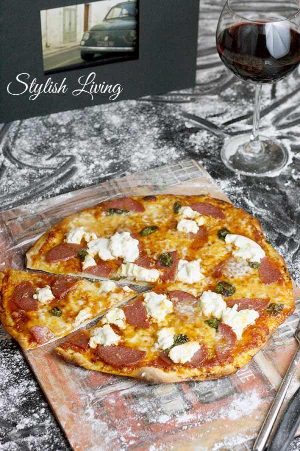 Salamipizza selbstgemacht