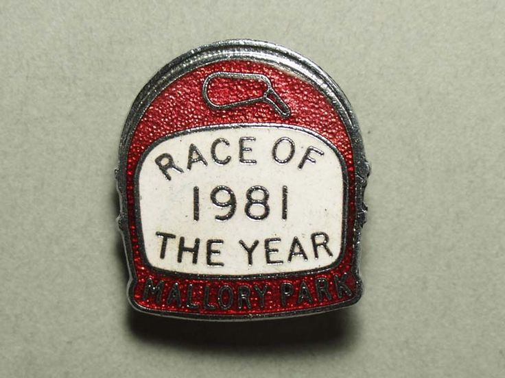 1981年 【Race of the year Mallory Park】 ピンバッジ