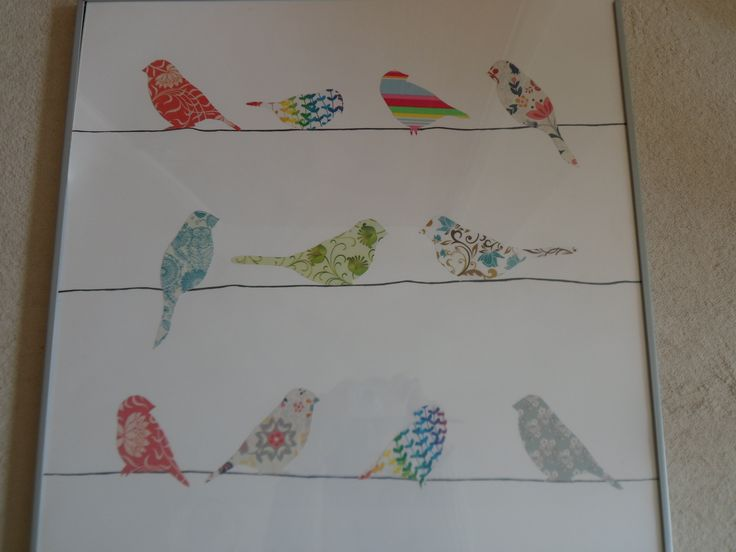 Cut Bird Templates From Wrapping Paper Or Wallpaper Samples To Make A Great Free Artwork