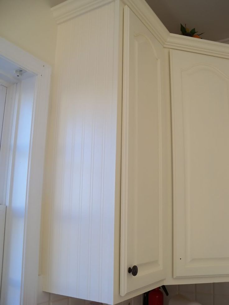 76 best ideas about wainscotting on pinterest planked for Beadboard wallpaper on kitchen cabinets