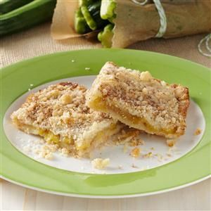 """Zucchini Cobbler Recipe -This cobbler is my surprise dessert! No one ever guesses that the """"secret ingredient"""" is zucchini. Everyone says it tastes like apples. It's great to make for a potluck supper or to serve a crowd. The recipe has been requested time and again in my house, and I'm always happy to make it. —Joanne Fazio, Carbondale, Pennsylvania"""