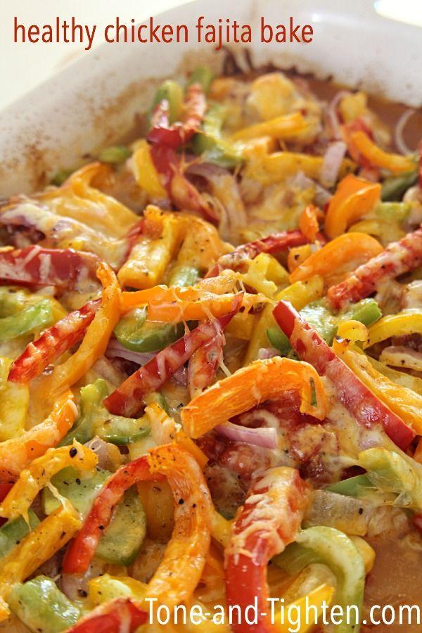Healthy Chicken Fajita Bake on Tone-and-Tighten