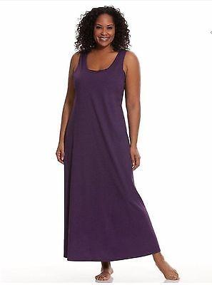 Lane Bryant Cacique Loungewear Sleeveless Sleepwear Nightgown Size 26/28 Purple