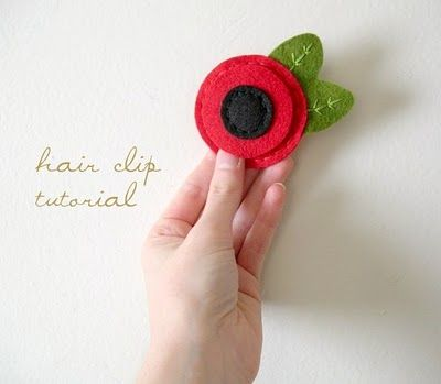 hair clip: Craft, Mommy Design, Felt Hair Clip, Hairclips, Flower Hair Clips, Felt Flowers, Clip Tutorial, Ordinary Mommy