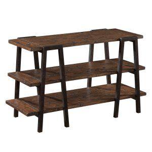 Sofa Sale Magnussen Lawton Wood and Metal Sofa Table Natural Pine