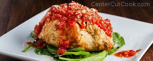 Italian Stuffed Chicken from CenterCutCook