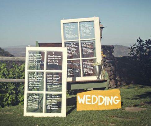 Vintage Wood Windows :  wedding barn casual charming country diy menu programs rustic seating chart shabby chic 2windows