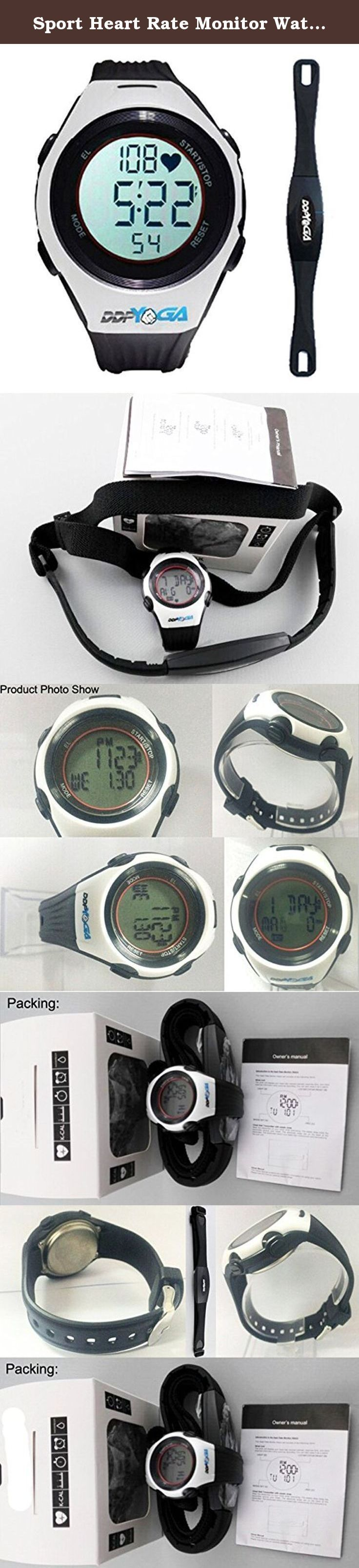Sport Heart Rate Monitor Watch -Sports Running, Jogging,cycling, Gym Exercise Watch-timer,alarm,calorie,7 Days Memory. SORT HEART RATE MONITOR WATCH WITH HEART RATE CHEST STRAP: Multi Function for All Forms Of Indoor-Outdoor Activities. The item was designed with all functions and features necessary. User-Friendly and Affordable, Clock/ Auto Calendar - Dual daily alarms - 1/100 sec Chronograph - Countdown Timer - BMI calculation 12/24 hour format - EL Backlight.