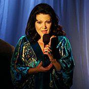 Irina Maleeva onstage at the Hudson Theatre
