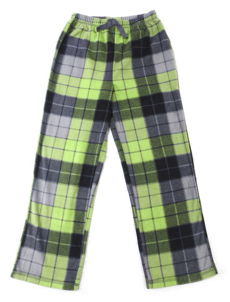 St. Eve Boys Size 10 Pajama Bottoms, Green/Black