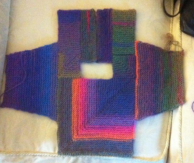Ravelry: Amazing Modular Baby Cardigan pattern by Loraine Birchall
