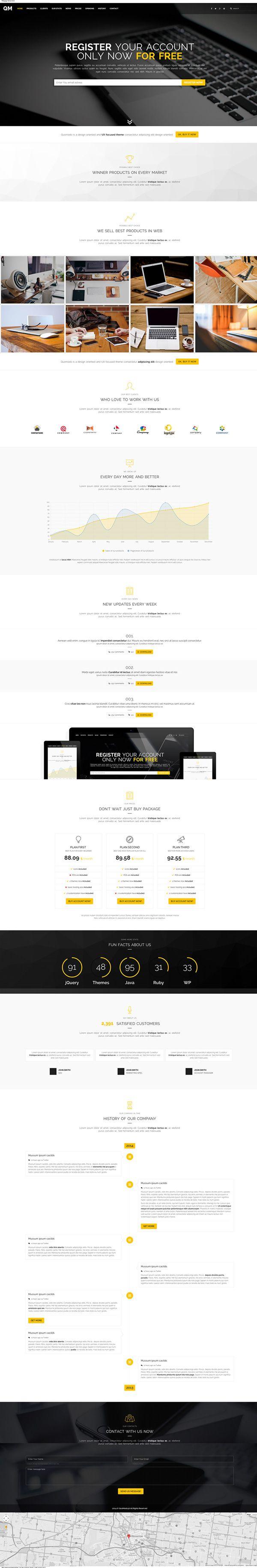 Responsive clean website webdesign . Multipurpose Premium Landing Page Design .  Get it from here - http://themeforest.net/item/multipurpose-landing-page/9768342