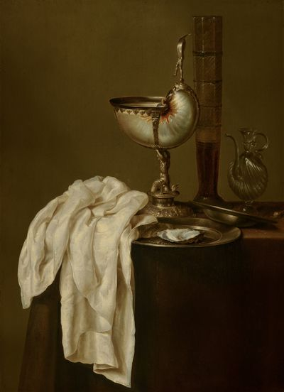 Still Life with Nautilus Cup | 1640 | Mauritshuis | Public Domain Marked