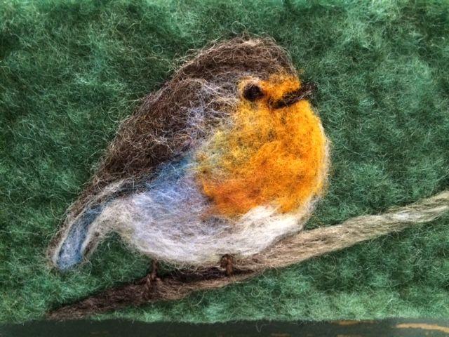 needle felt robin Julie Philip
